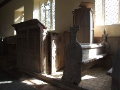 pulpit and reading desk